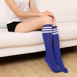 Гольфы синие до колена с белыми полосками
