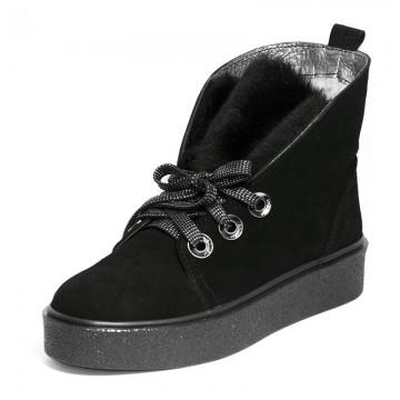 Ботинки замшевые c меховым язычком 7493