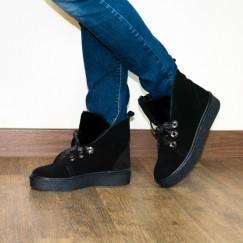 Ботинки замшевые на меху 7493