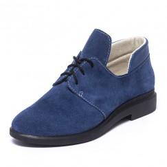 Туфли синие замшевые 833-06